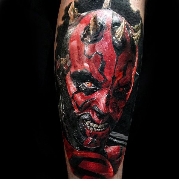 Darth Maul Male Tattoo Designs On Arm