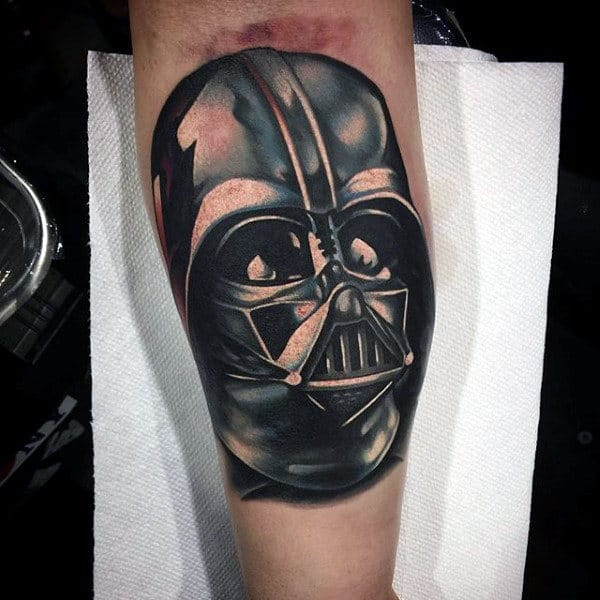 Darth Vader Tattoo Male Forearms