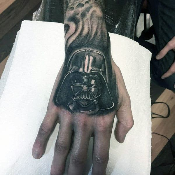 Darth Vader Tattoo Male Hands
