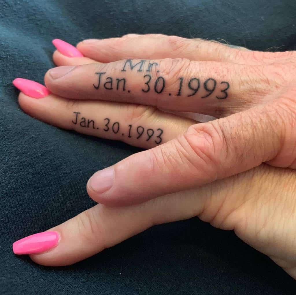 Date Wedding Ring Tattoo Bloomymum