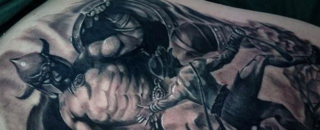 David And Goliath Tattoo Designs For Men