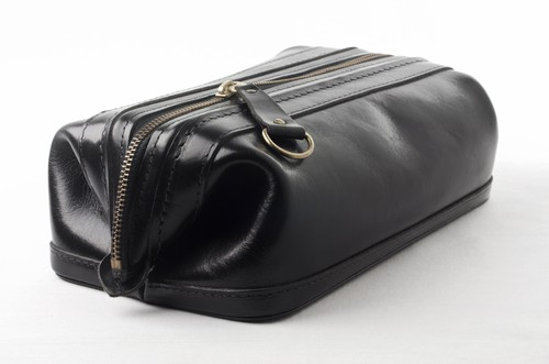 David King Co Small Double Zip Shave Kit Toiletry Bag For Men