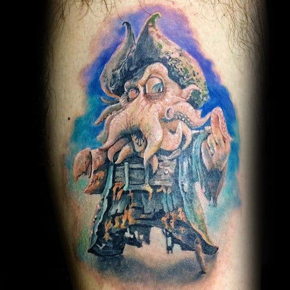 Davy Jones Guys Tattoo Ideas Thigh