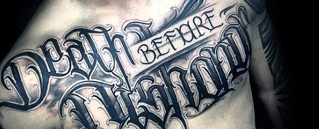 Death Before Dishonor Tattoo Designs For Men
