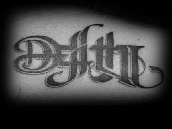Death Life Mens Arm Tattoos