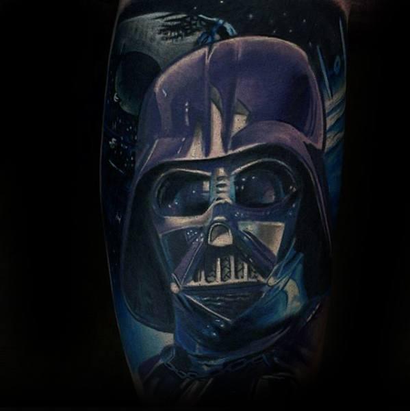 Death Star Tattoo On Mens Inner Arm Bicep