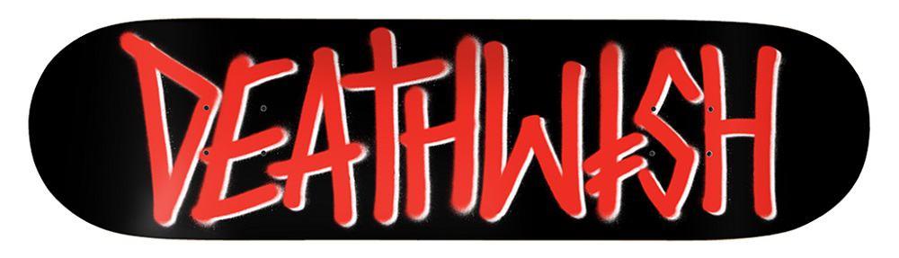 deathwish brand logo deck black