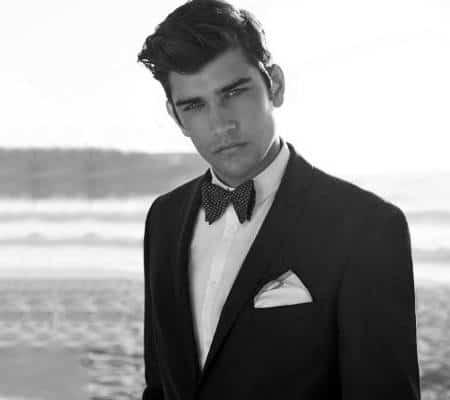 Debonair Classy Mens Hair With Bow Tie