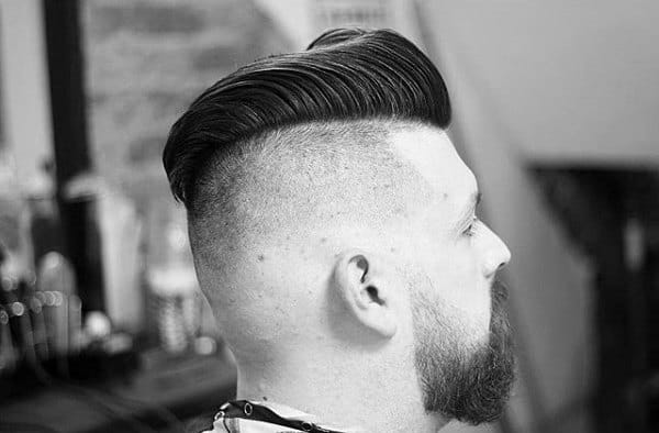 Debonair Comb Over Hairstyles For Men Shaved Sides