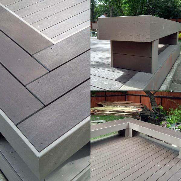 Deck Bench Backyard Ideas Modern Details