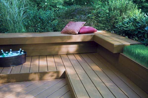 Deck Bench Cool Backyard Ideas
