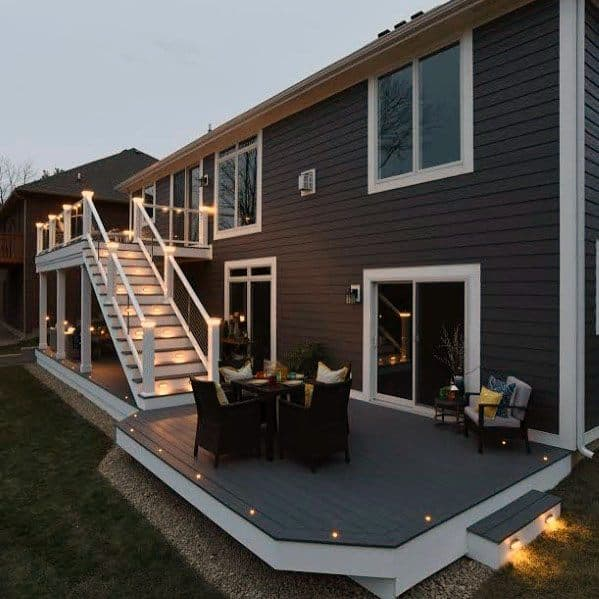Deck Border Lighting Exterior Design