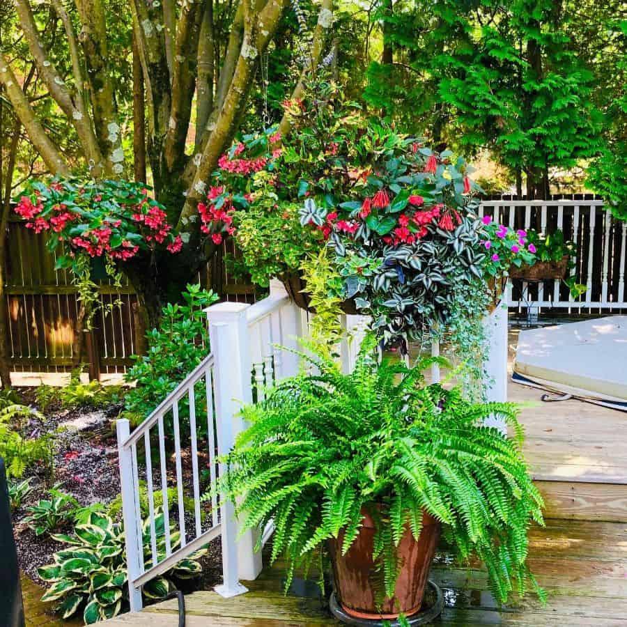 deck container garden ideas ladydifloralgarden