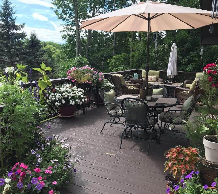 deck container garden ideas mountainmamaonline