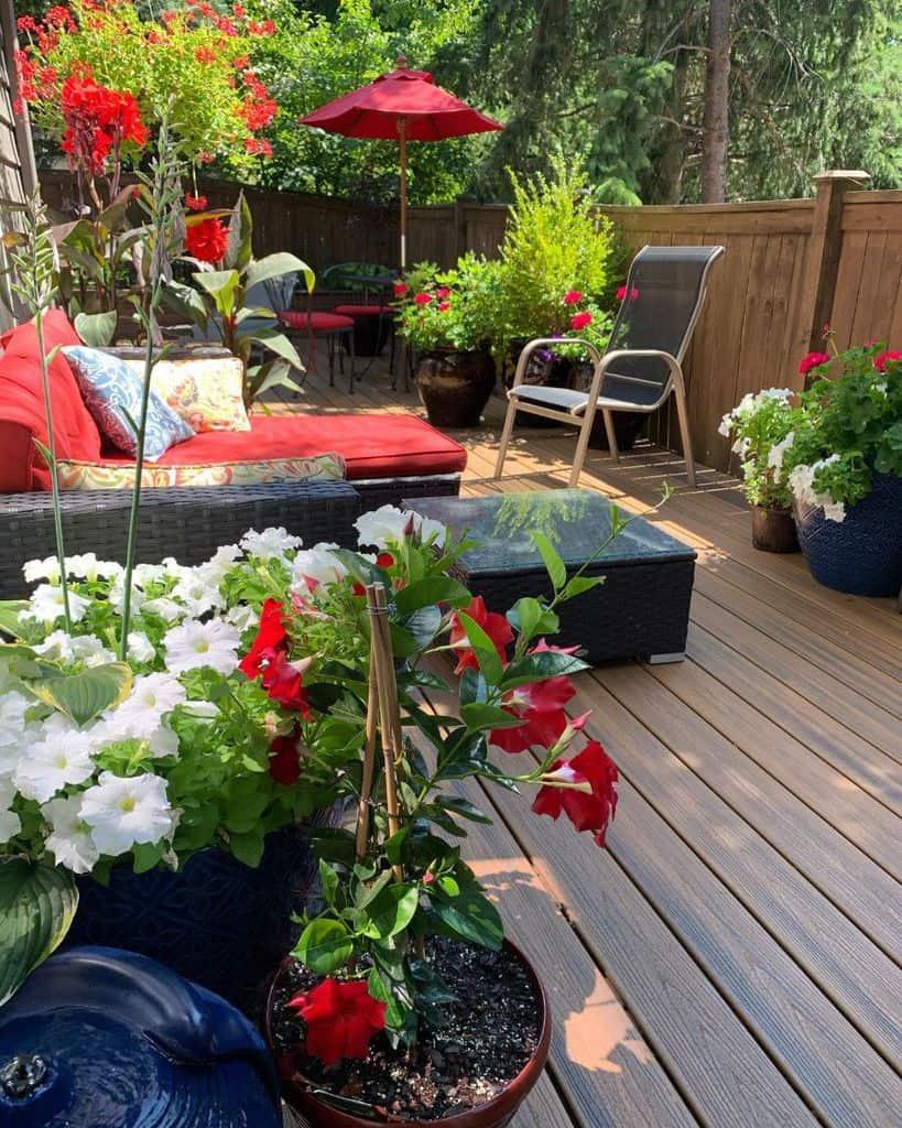 deck container garden ideas whisk.chop.cheers