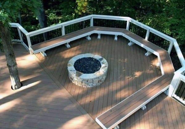 Deck Fire Pit Cool Backyard Ideas
