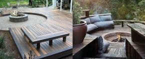 Top 50 Best Deck Fire Pit Ideas – Wood Safe Designs