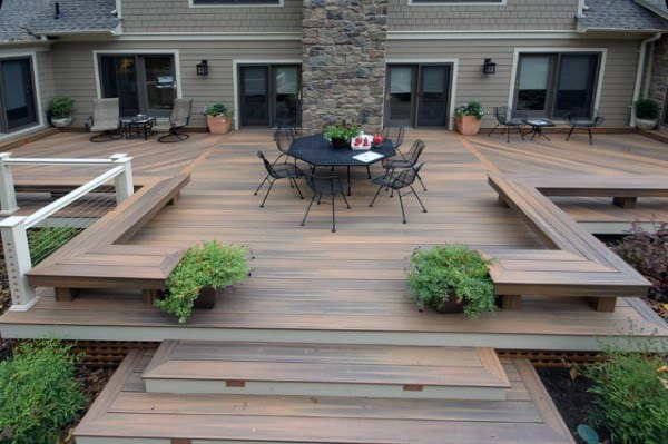 Deck In Backyard