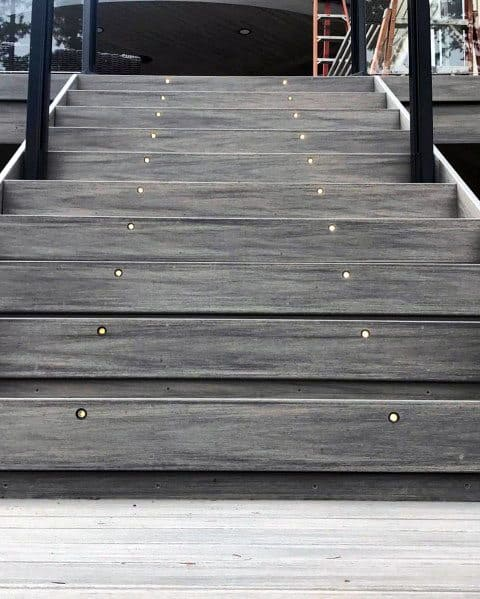 Deck Lighting Design Ideas Integrated In Stairs