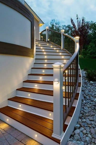 Deck Lighting Design Inspiration For Stairs And Post Caps