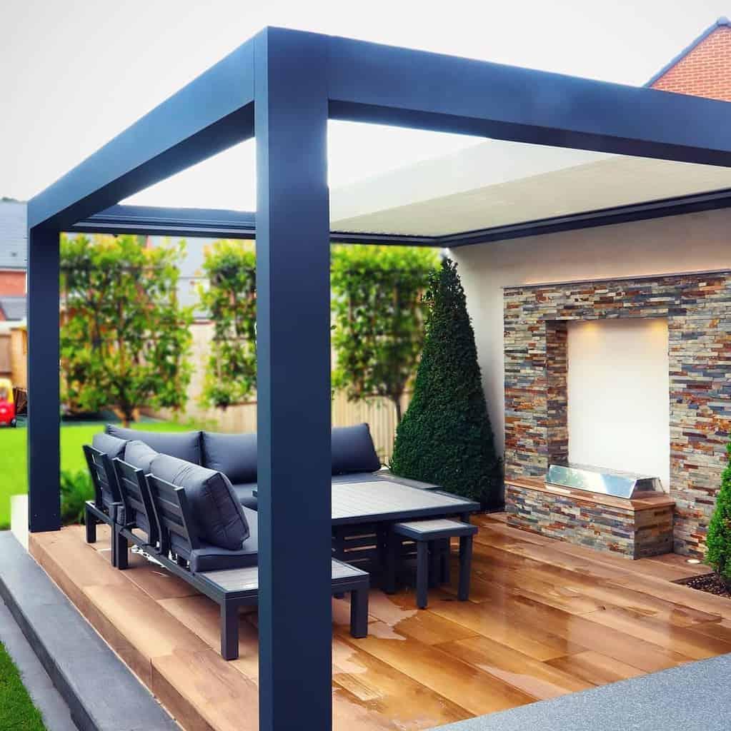 deck patio awning ideas gossoutdoor