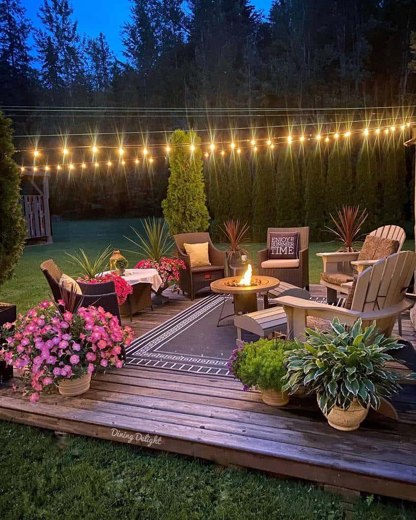 deck patio lighting ideas dining_delight