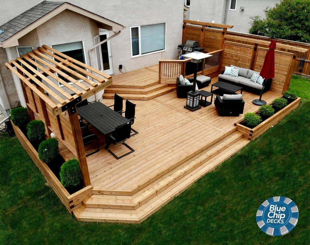 deck patio privacy ideas bluechipdecks