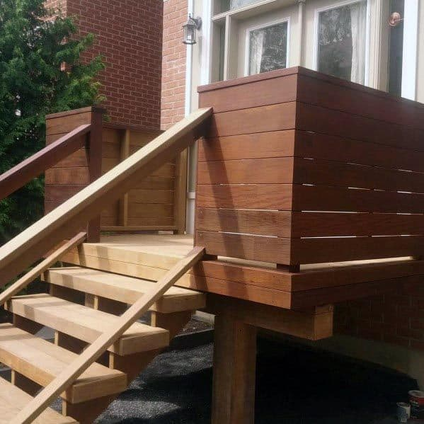 Deck Railing Backyard Ideas Wood Boards