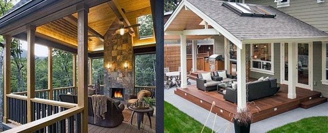 Top 40 best deck roof ideas covered backyard space designs - Deck ideas for home ...