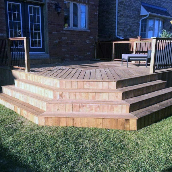 Deck Steps Skirting Ideas