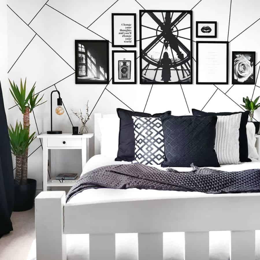 decor black and white bedroom ideas budgethomeinteriordesign