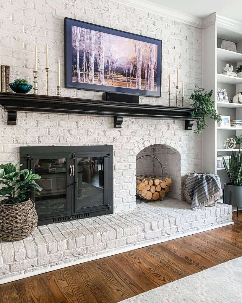 decor fireplace wall ideas revealmydiy