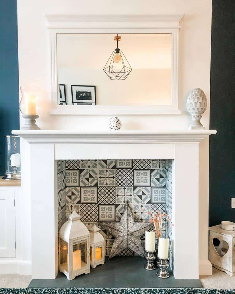 decor fireplace wall ideas thelittle_white_house