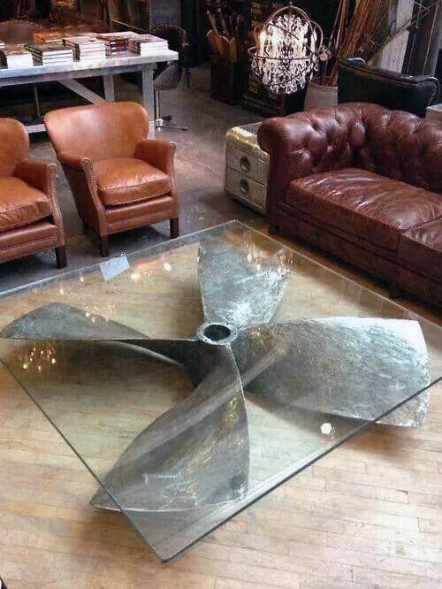 Decor For Man Cave Ship Rudder Coffee Table