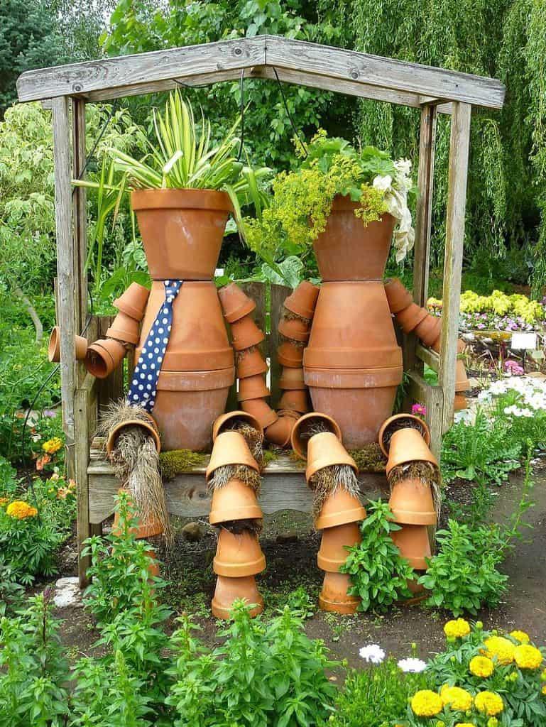 decorative planters and pots 2 Garden Decor Ideas