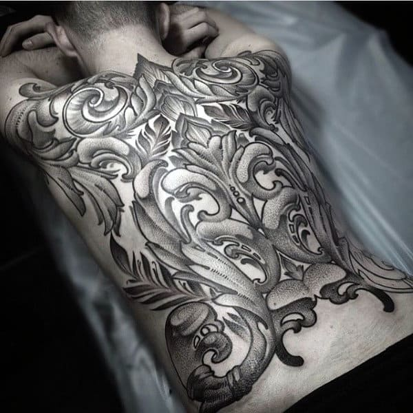 Decorative Unique Mens Full Back Tattoo