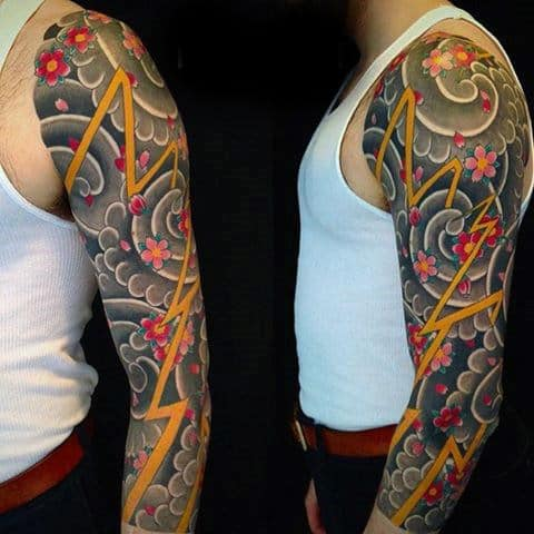 Decorous Japanese Sleeve Tattoo For Men