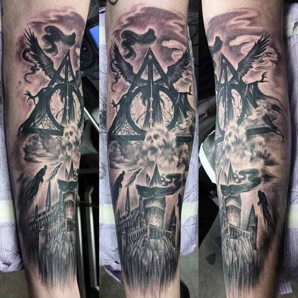 Dementor Mens Tattoo Ideas