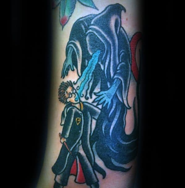 Dementor Tattoo Ideas For Males