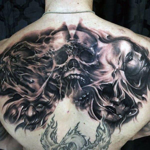 acf7b0c54d437 90 Demon Tattoos For Men - Devilish Exterior Design Ideas