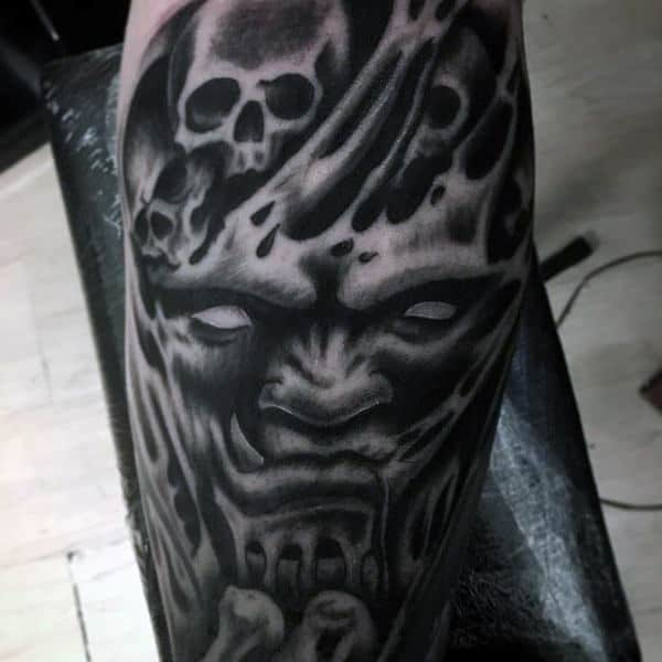 demon face tattoo - photo #6