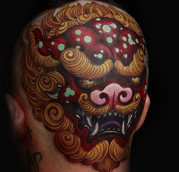 Demon Mens Head Tattoo Design