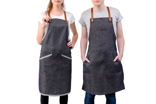 Denim Medium Rare Chef Apron For Men