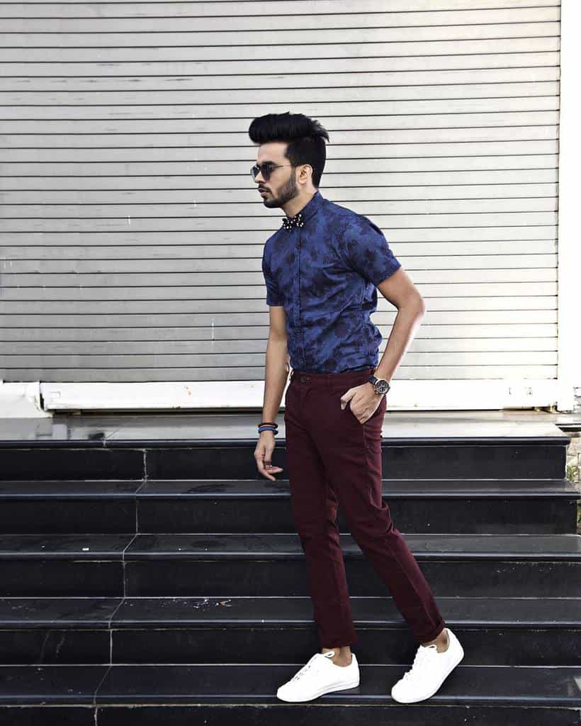Denim Printed Mens Style Fashion