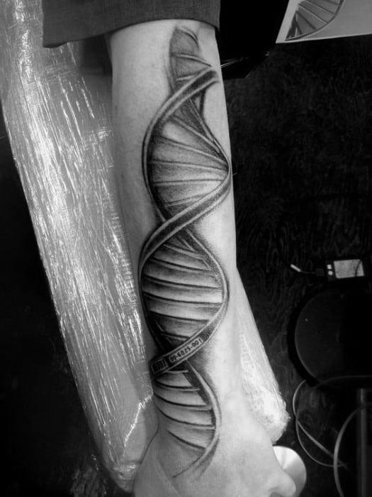 Deoxyribonucleic Acid Mens Tattoo Design On Arm