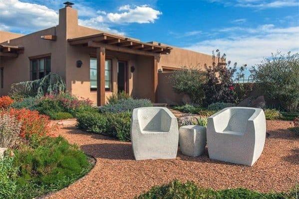Desert Landscape Gravel Walkway Design Inspiration