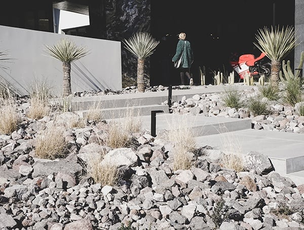 Desert Low Maitenance Landscaping Walkway New American Home 2019
