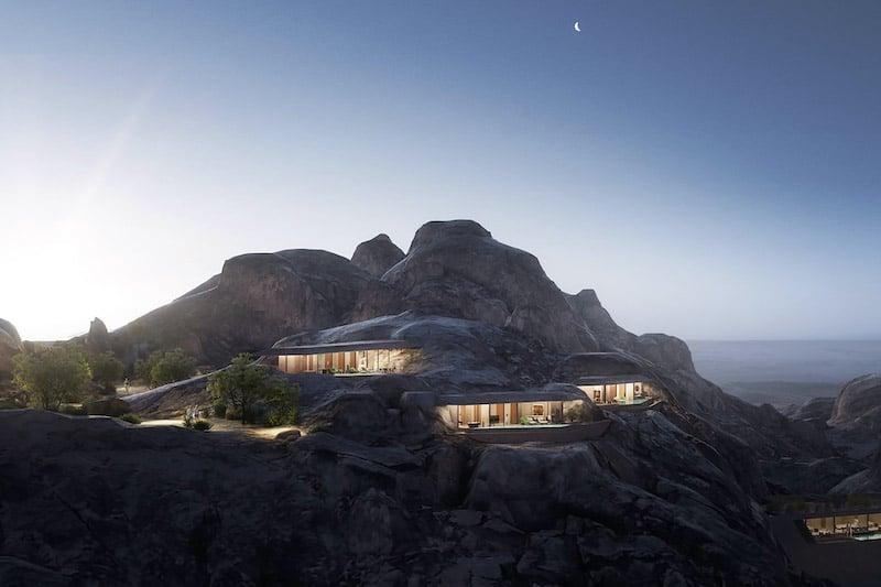 Desert Rock Resort is a Luxurious Hotel in the Saudi Arabia Mountainside