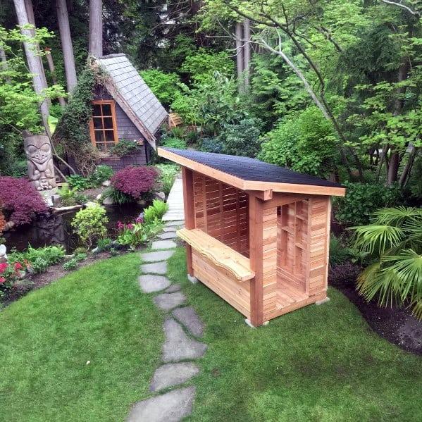 Design Ideas Backyard Shed Bar