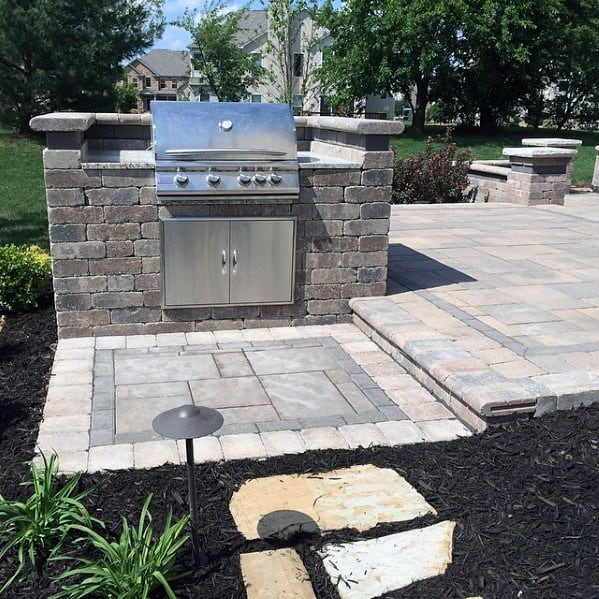Design Ideas Built In Grill Paver Stones
